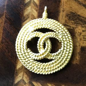 Chanel gold plated pendant
